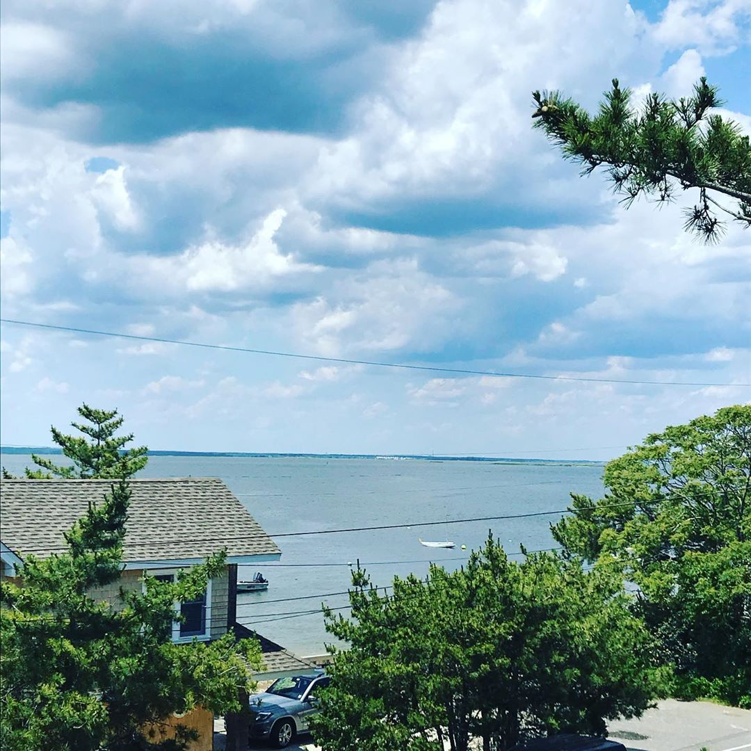 LBI Today's view! Can't beat working outside on this beautiful day!…