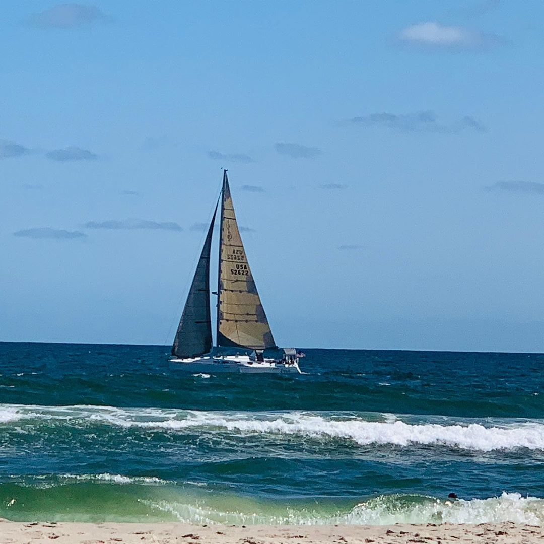 LBI Watching the unofficial end of summer sail away.     …