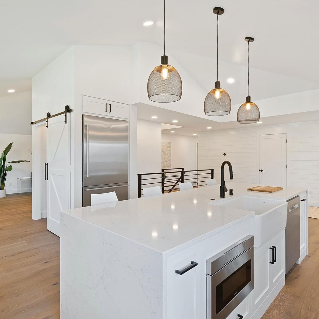 LBI What a beautiful white kitchen! Let's talk about your kitchen reno this fall. 60…