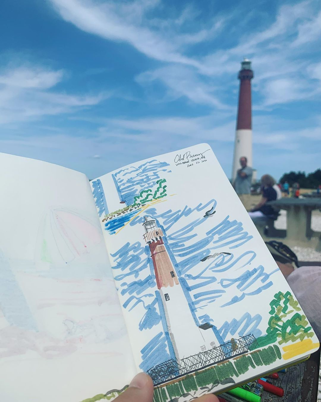 LBI Yesterday's doodle at Old Barney in Barnegat Light, NJ! Hope everyone is staying…