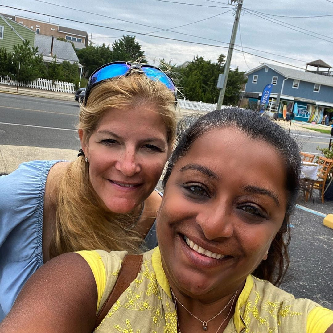 LBI managed to squeeze in a visit & brunch with kim before leaving LBI… . .       …