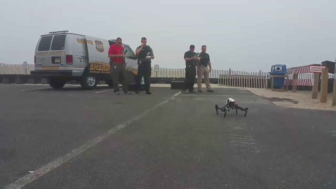Police drone Beach Haven, NJ, search for missing person in thick sea mist. #LBI