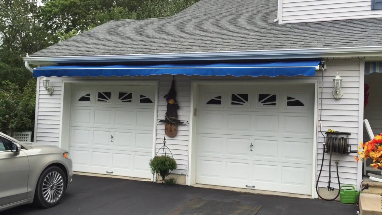 Retractable Awning Over Garage Doors Long Beach Twp. NJ LBI #LBI