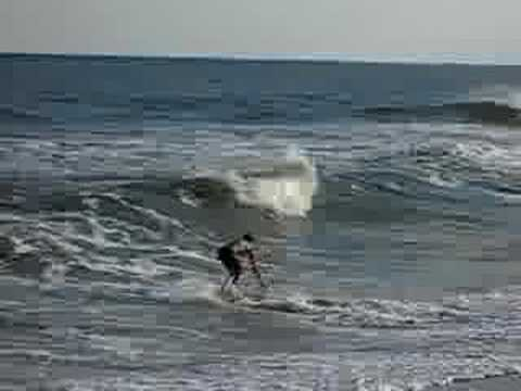 Skimboarding Wave in Barnegat Light, LBI #LBI