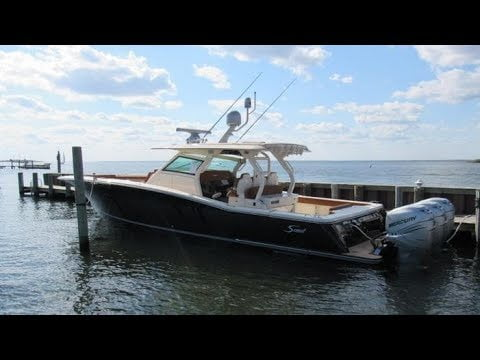 2018 Scout 380 LXF Boat For Sale at MarineMax Ship Bottom, NJ #LBI