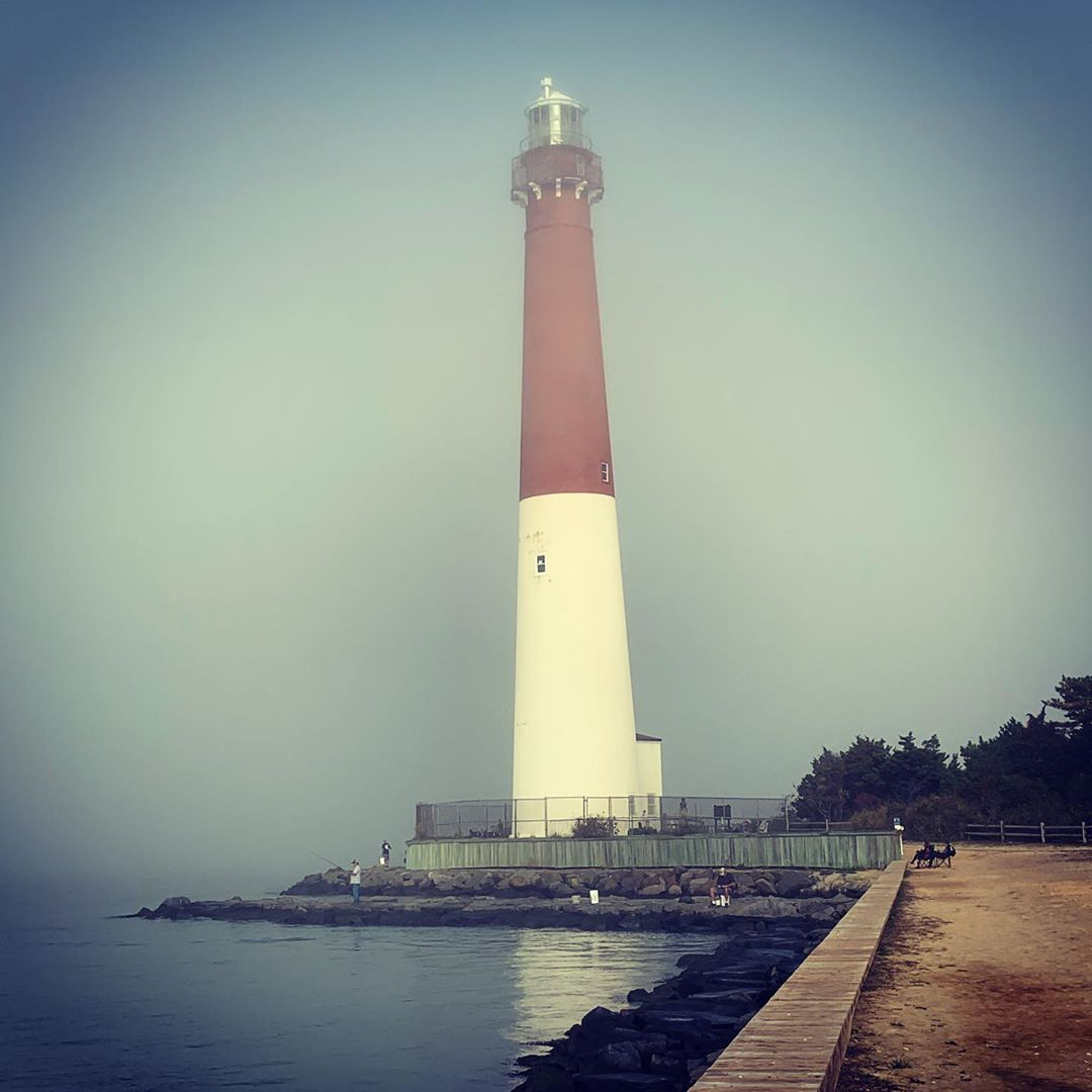 LBI A beautiful Day out at Barnegat Lighthouse NJ. Rolling mist and Sunshine and 72 …