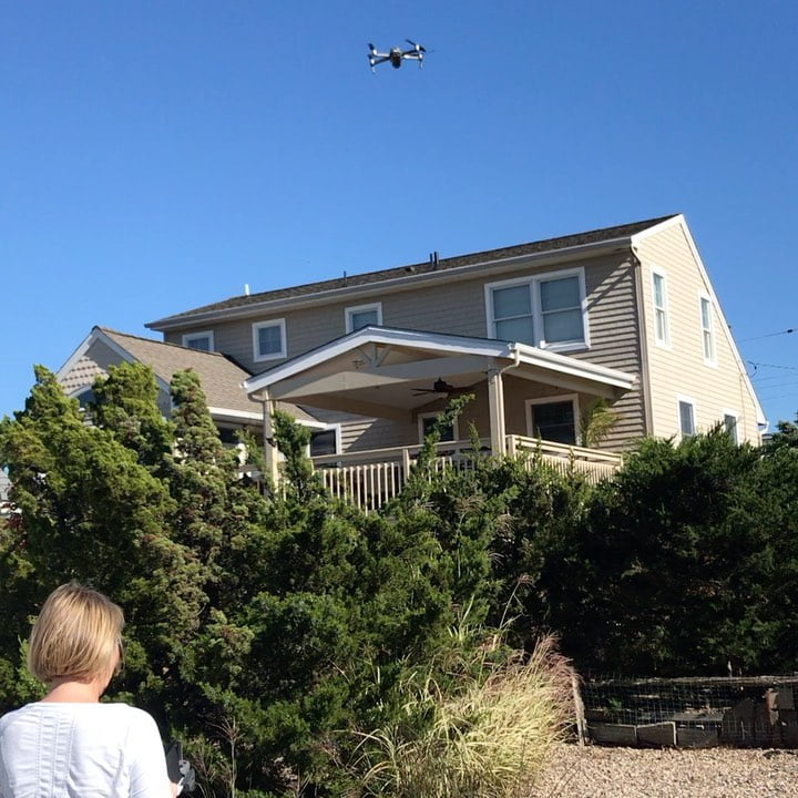 LBI Beautiful afternoon to take out the drone!  …