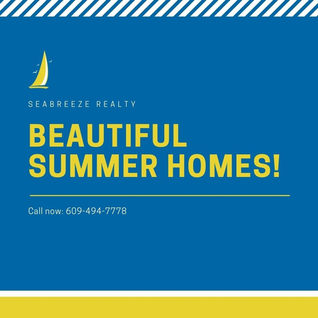 LBI Beautiful summer homes are just a phone call away! Call now: 609-494-7778. •    …