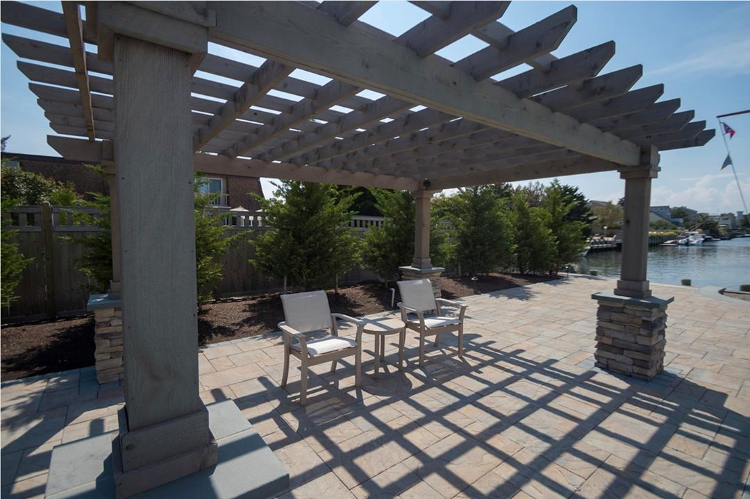 LBI Custom pergola for some light shade in the backyard  How do you think it turned …