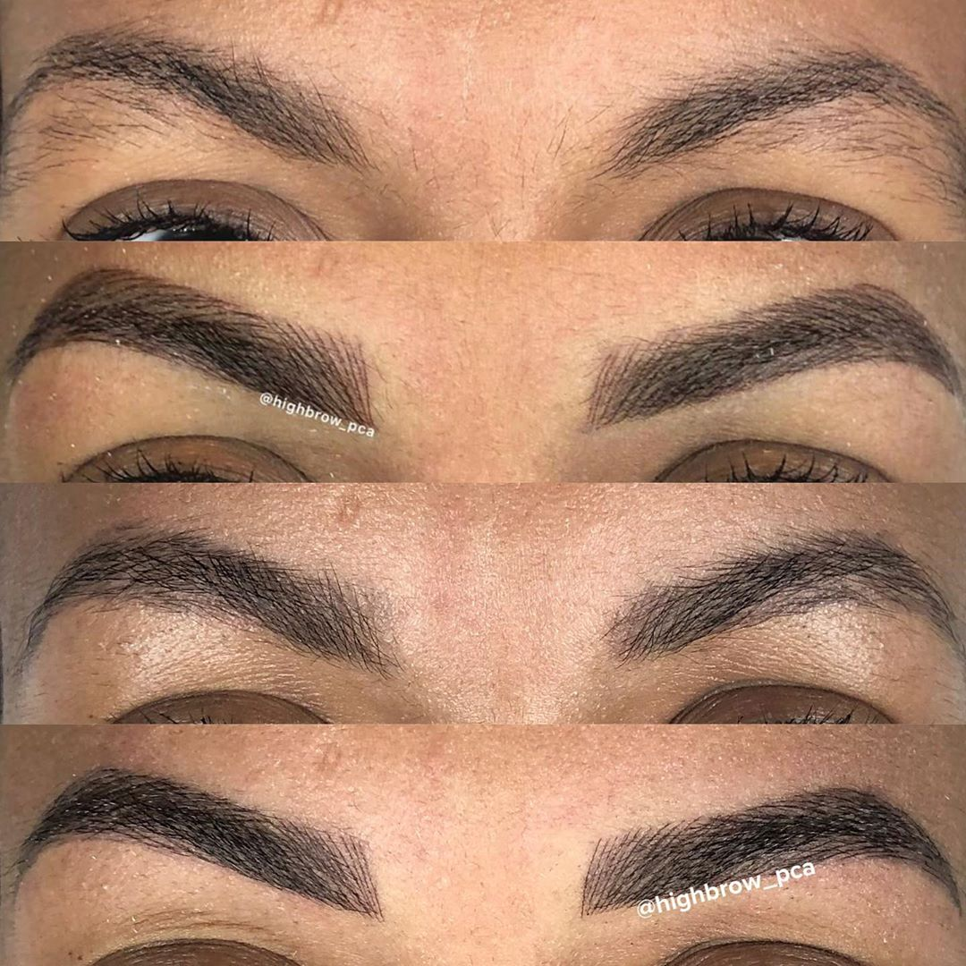 LBI Fluffy  progression on this beauty's full set of brows  .. – – –                …