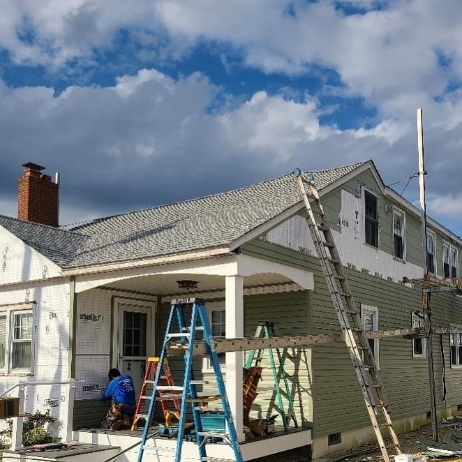 LBI Getting a face lift! New roof  New front porch  New siding Bathroom update up ne…