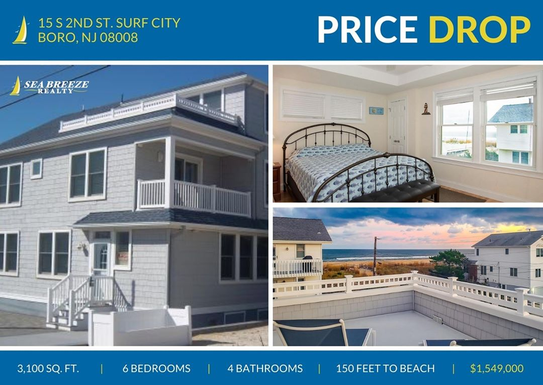 LBI Look at this gorgeous 6 bedroom 4 bathroom home just 150 feet from the beach! Ca…