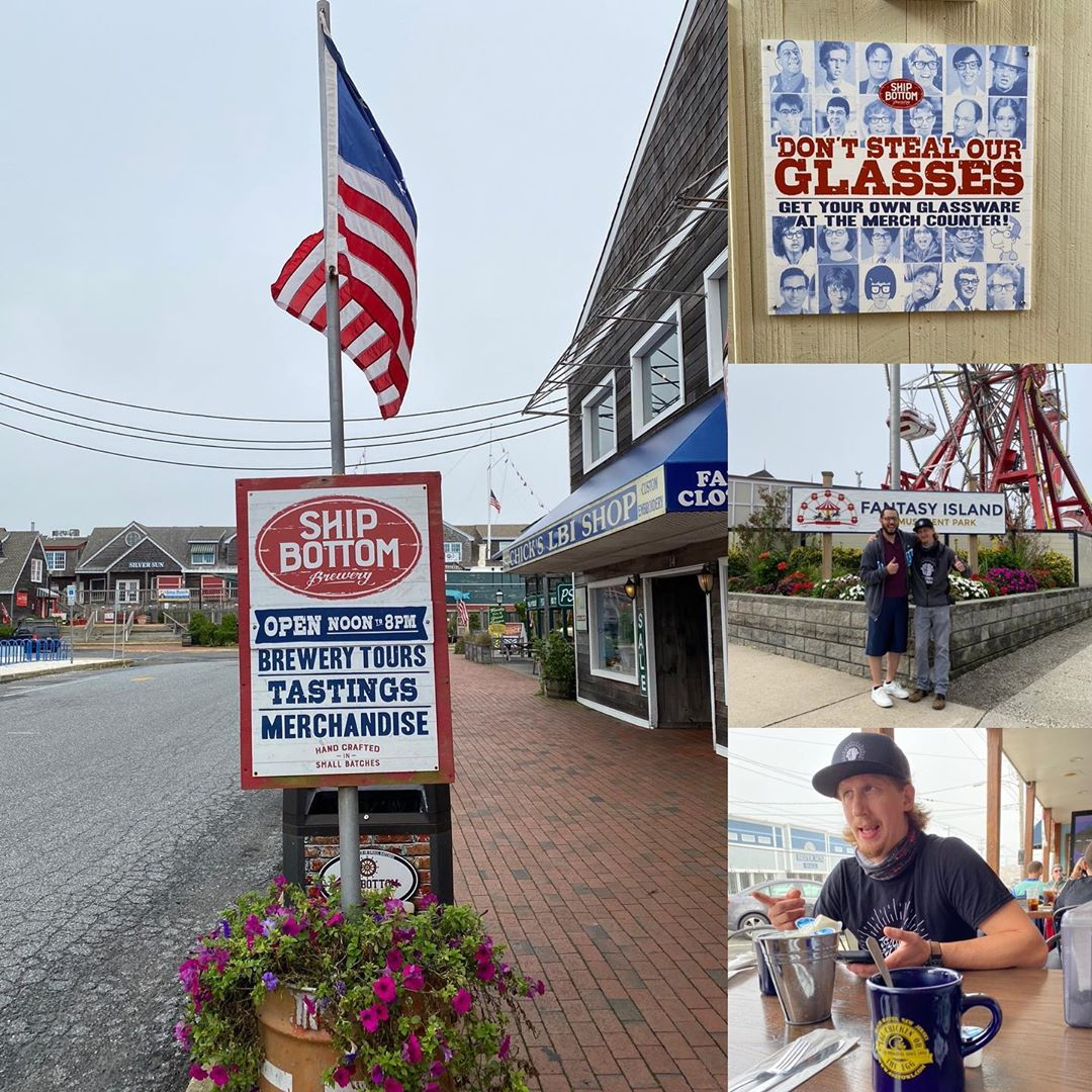 LBI On dreary days we wish we could be down in  having a beer or 2  and breakfast  !…