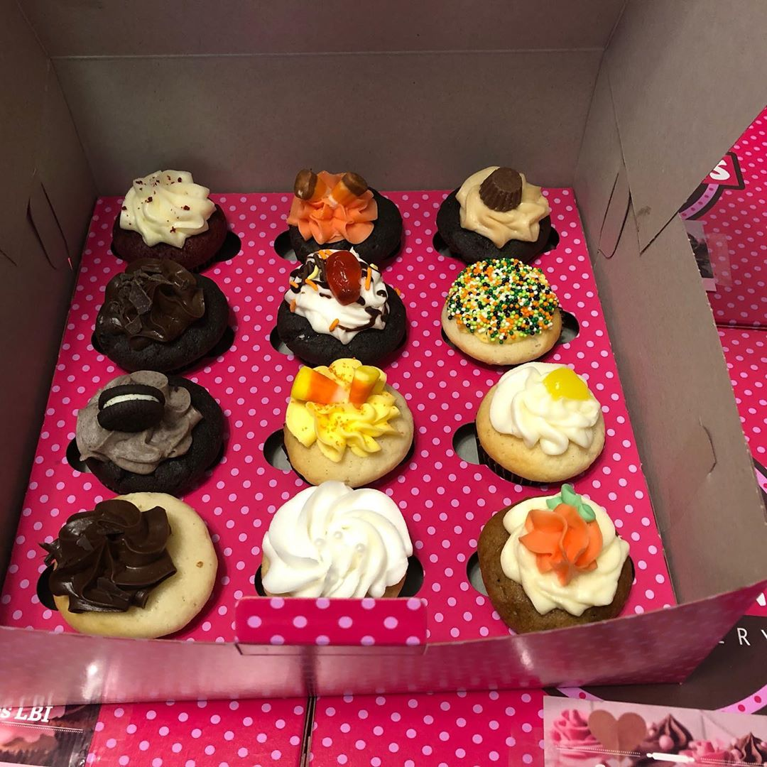 LBI Our mini cupcake Signature Flavor variety dozen is now garnished in fall colors….