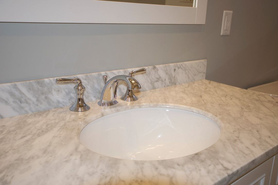 LBI The counter and fixtures in this hall bath of a  recently completed home in Nort…
