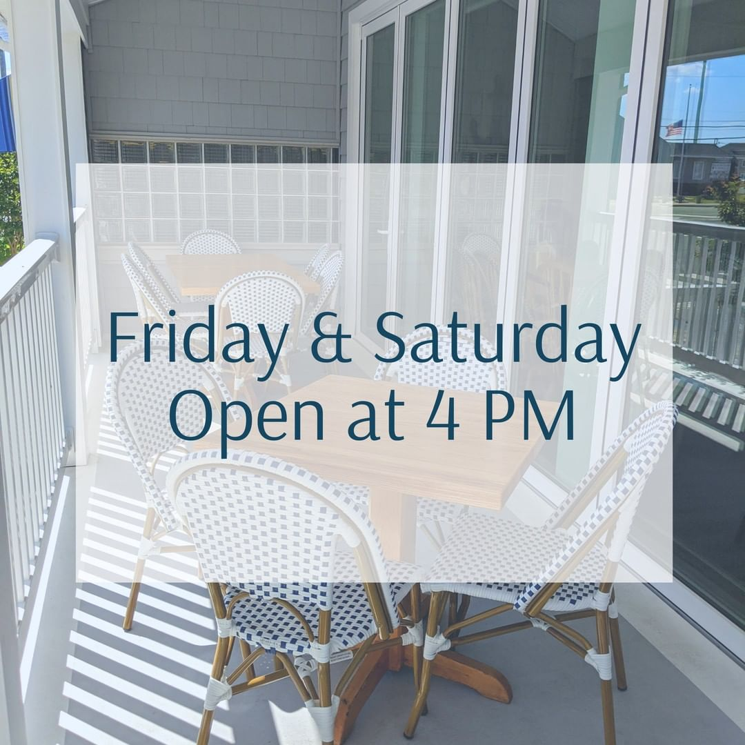 LBI This weekend we're open Friday and Saturday at 4PM! Swing by for drink specials …
