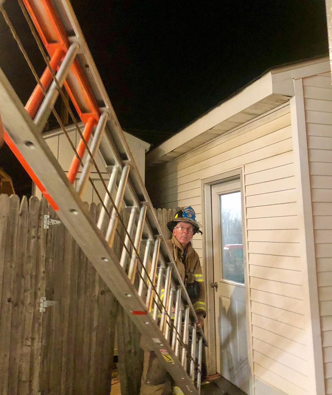 LBI Tonight our Firefighters trained on single person and two person ground ladder t…