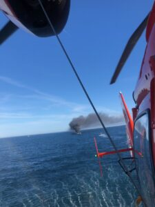 Coast Guard Rescues Two Recreational Fishermen After Boat Fire