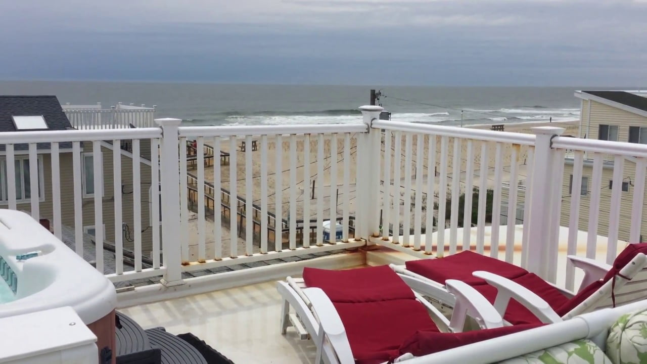 Beach House Retreats on LBI, NJ Rooftop Deck Views  and Hot Tub #LBI