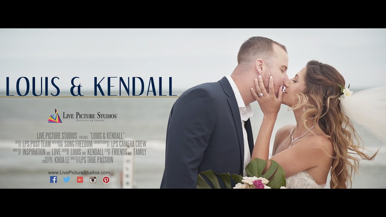 Kendall and Louis Wedding Highlight at The Sea Shell Resort, Beach Haven NJ #LBI
