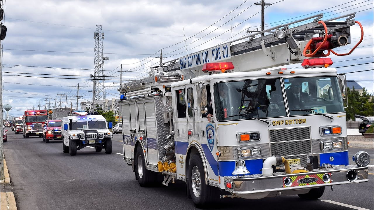 Lights And Sirens Fire Truck Parade Beach Haven Tower 1515 Housing And Parade 10-5-19 #LBI