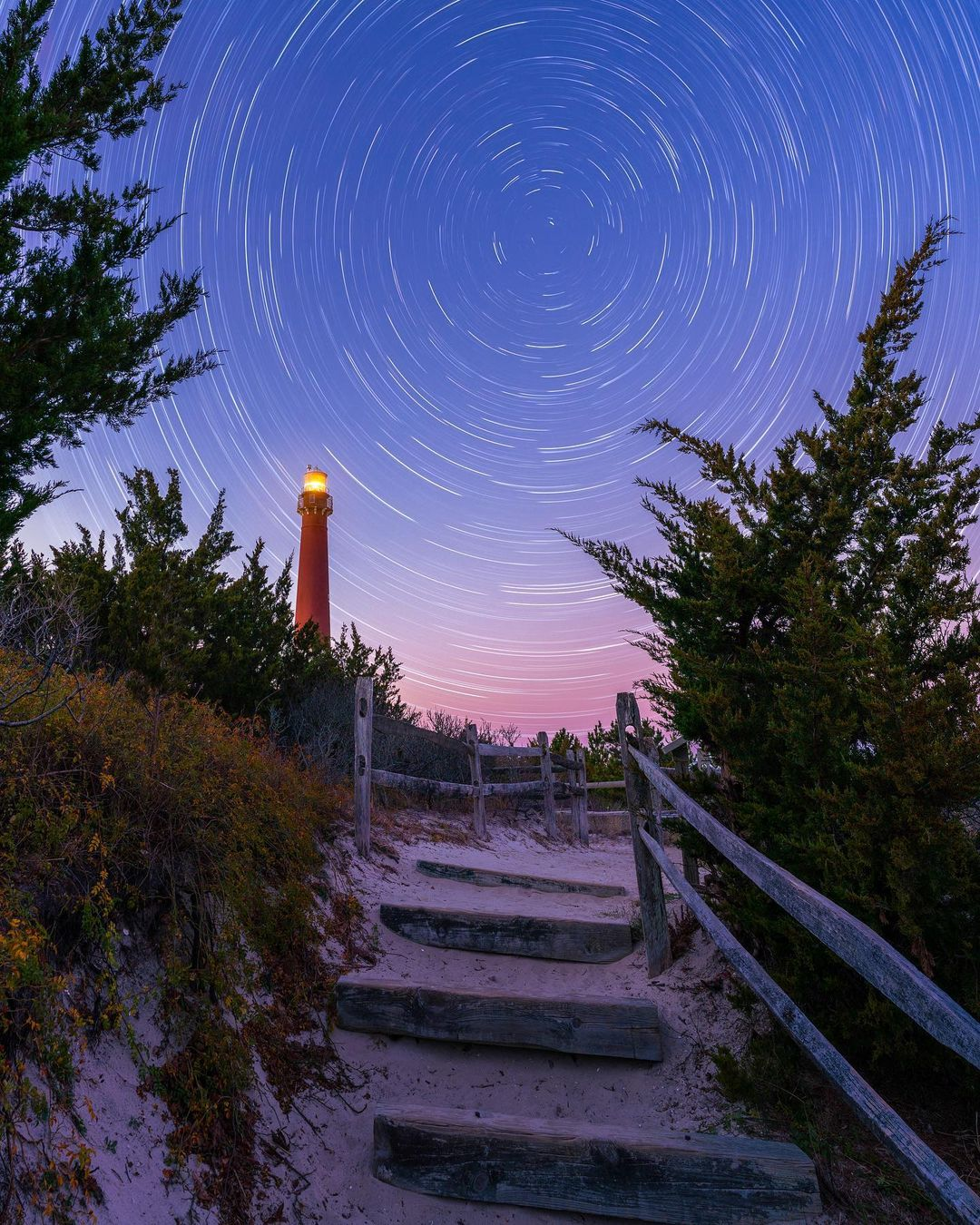 LBI Star trails at Barnegat Lighthouse  I love shooting the night sky in December! T…