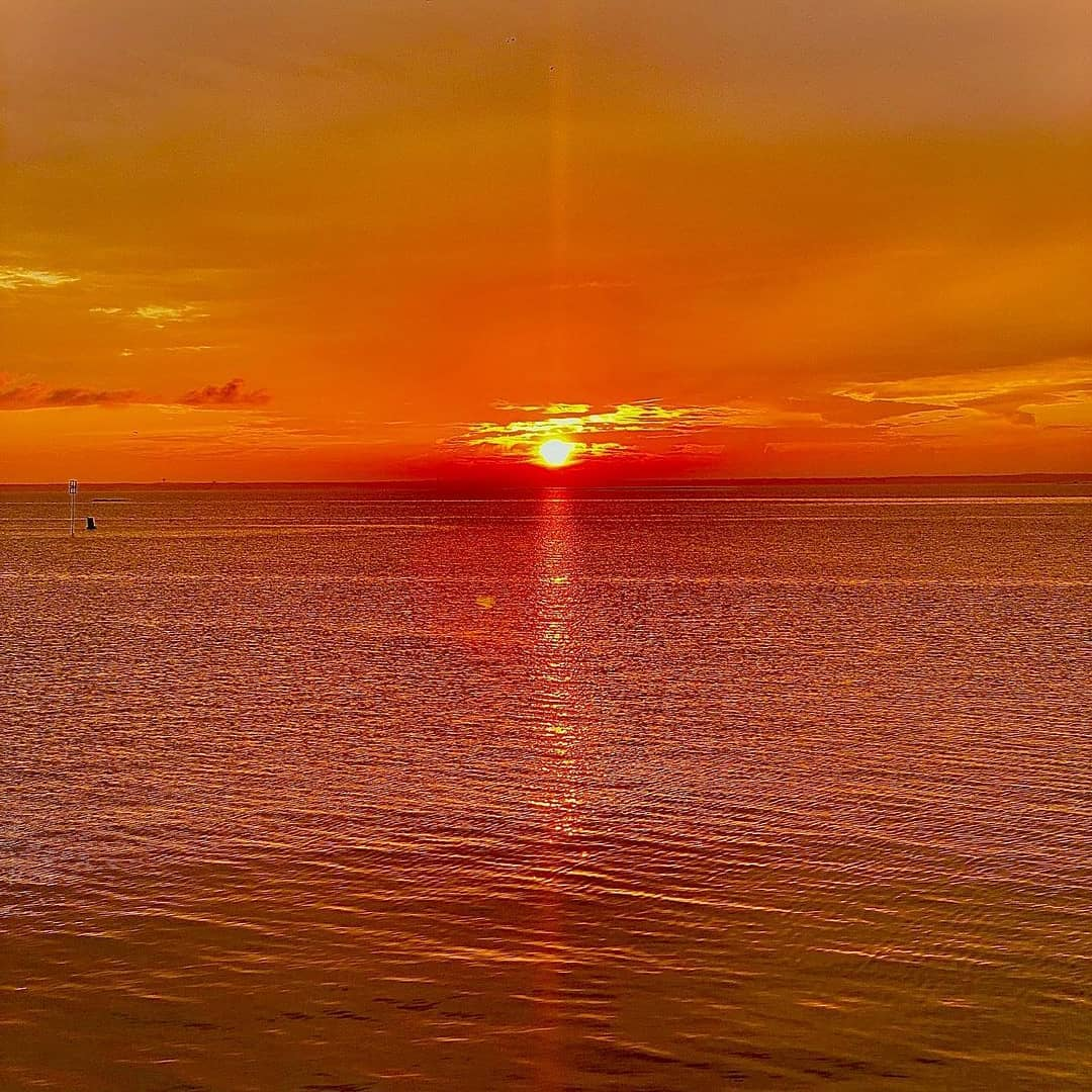 LBI Sunsets it's Lit   Sunset on the bay.                            Reposted from …