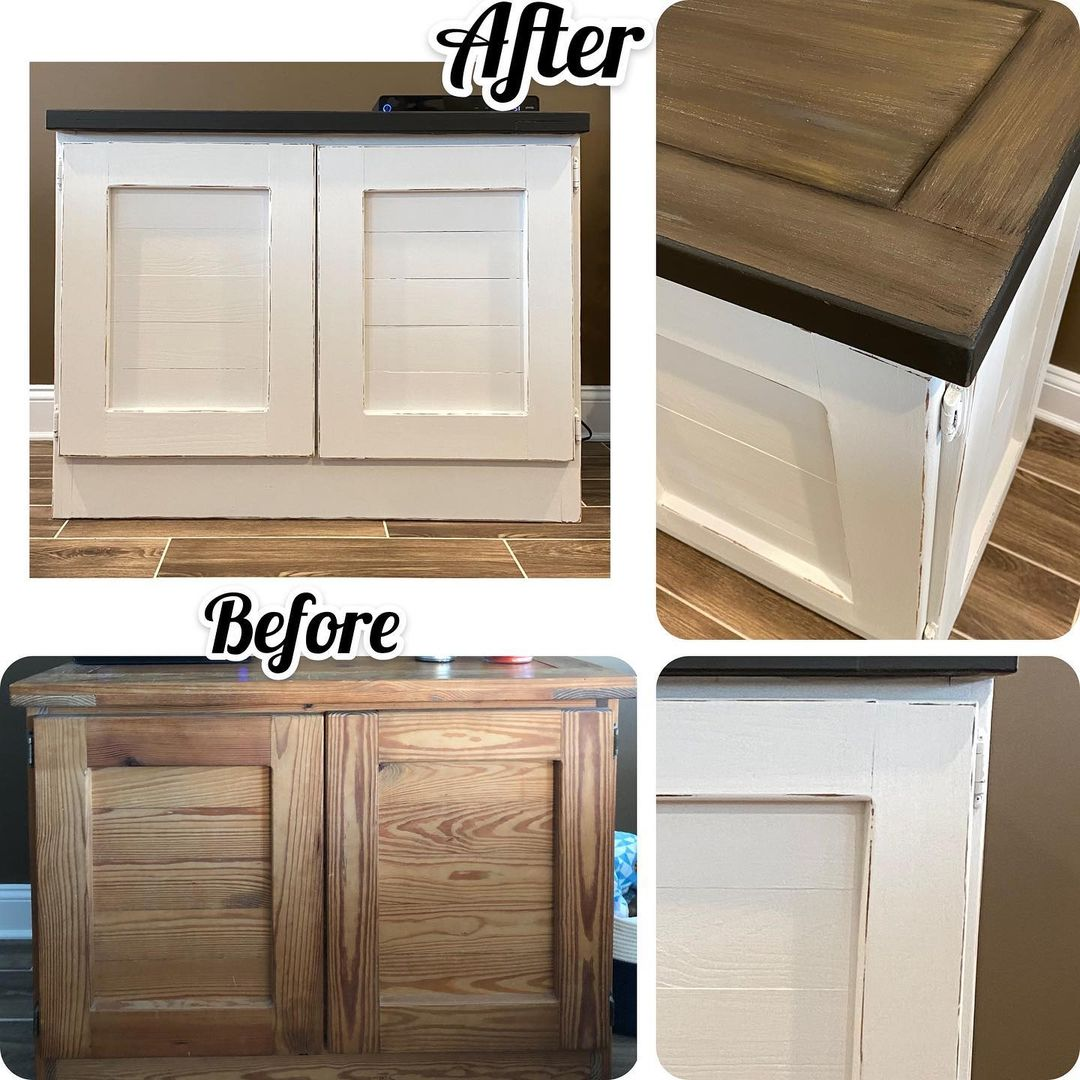 LBI This weeks project was a simple This End Up cabinet makeover .  It was painted t…