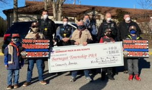 Barnegat Scouts Offer Sign of Support for Police