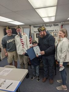 Youngster Donates to VFW From Lemonade Sale