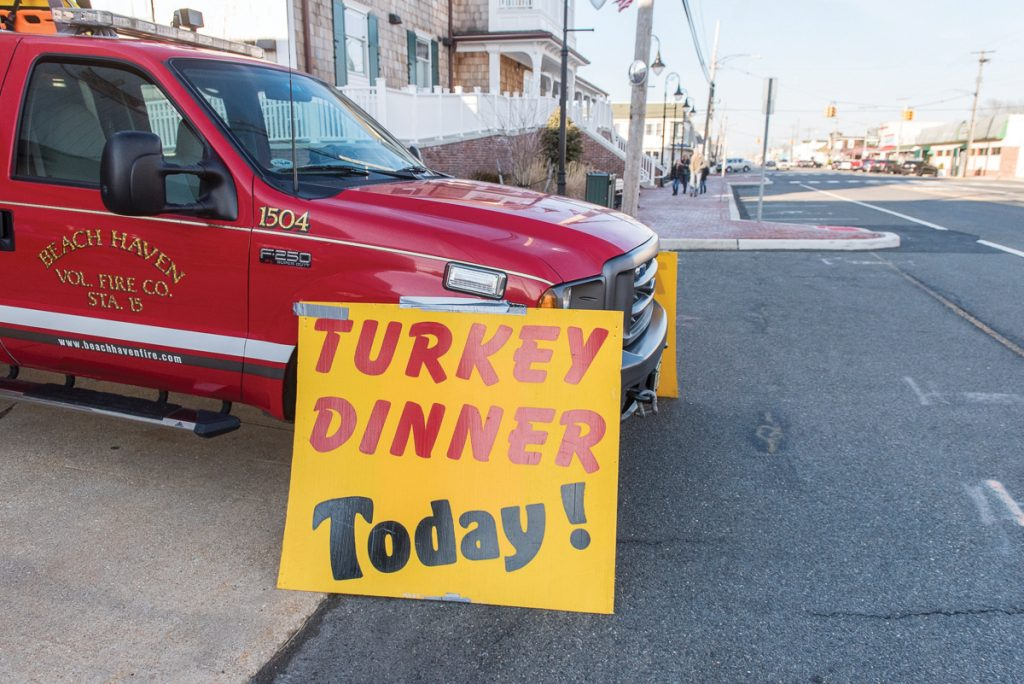 Beach Haven Fire Co. Turkey Dinner Takeout Only