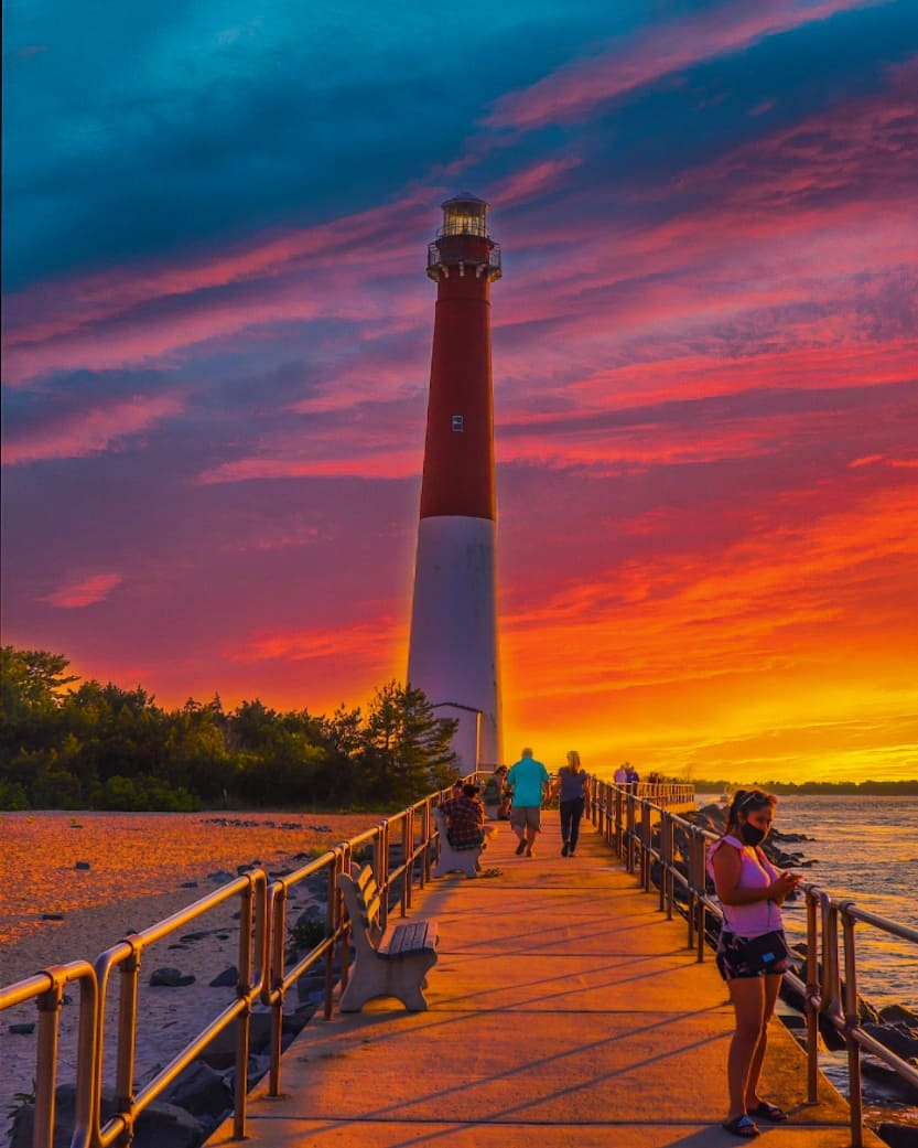 LBI ☆☆☆ Sunset at L-I-G-H-T-H-O-U-S-E  Barnegat Light, New Jersey  This picture was …