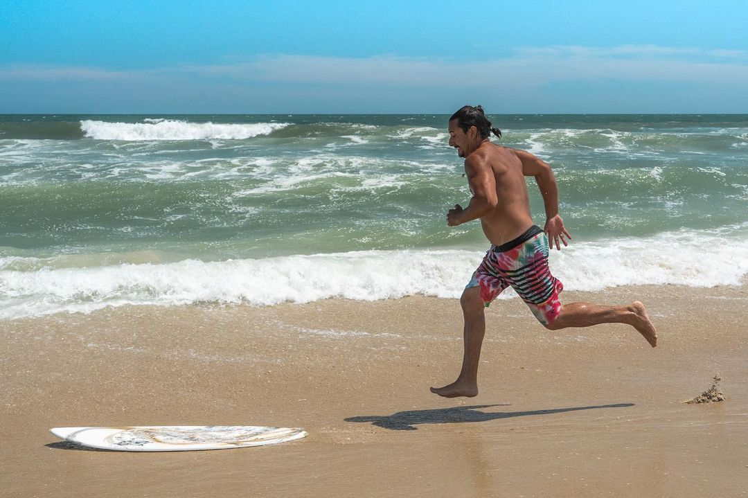 LBI A beautiful day  . I was able to capture this moment of  skim boarding.         …