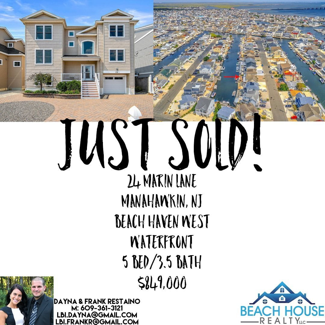 LBI Another Happy Seller! 24 Marin Lane in the Beach Haven West section of Stafford …