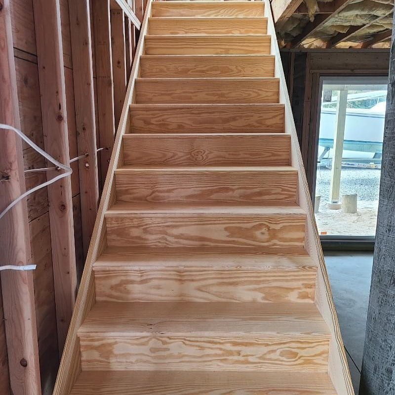 LBI Creating new living space for a client in Barnegat Light. New staircase is in……