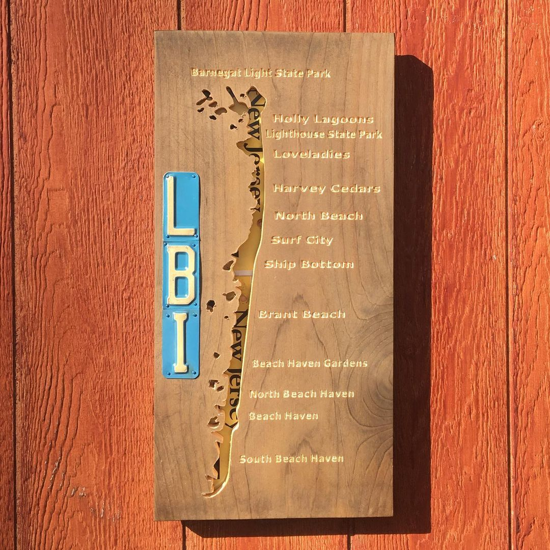 LBI Custom order LBI sign. This is a combination CNC and license plate sign. The isl…