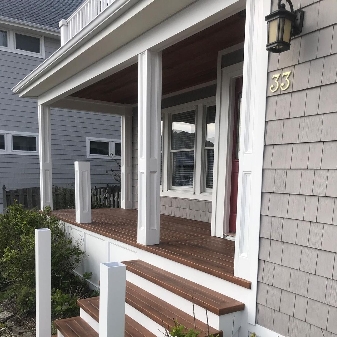 LBI Here's a sneak peak at a porch renovation we are getting close on. Royal Pvc Cus…