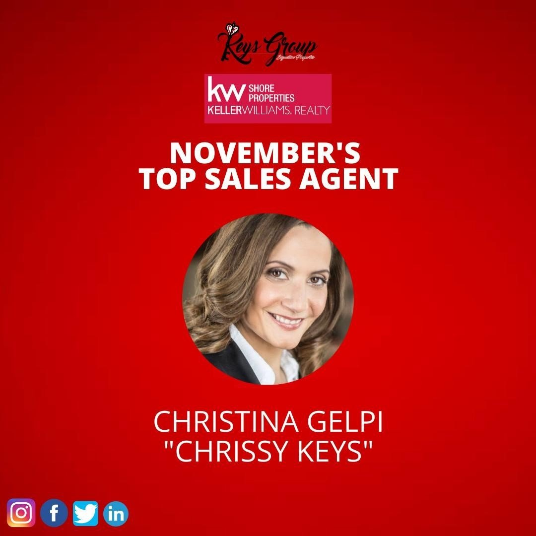 Read more about the article LBI Honored to have received the honor of Top Agent of November for Sales and Volume…
