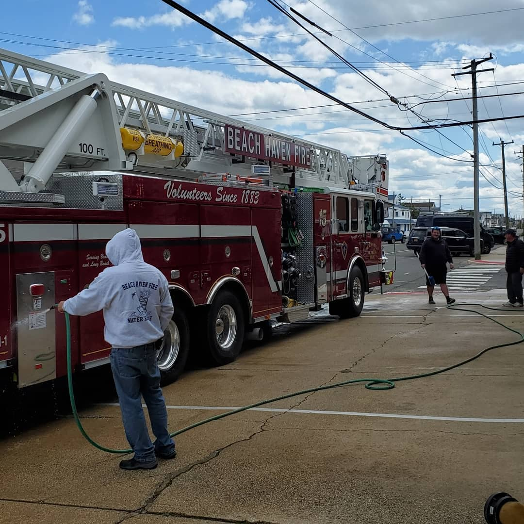 LBI Members today spent some time giving the trucks and equipment some long overdue …