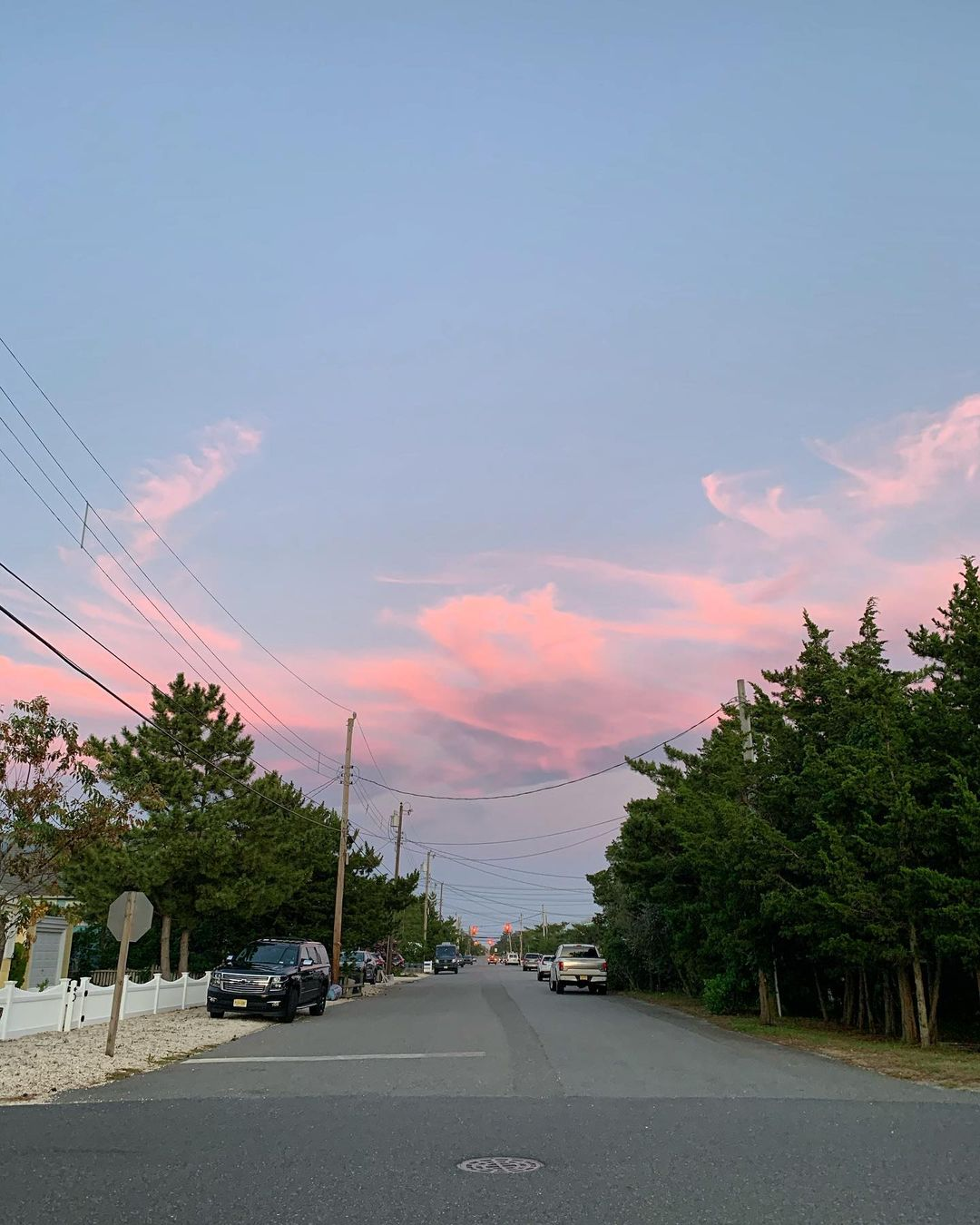 LBI Missing these cotton candy skies…but excited to maybe see some snow      …