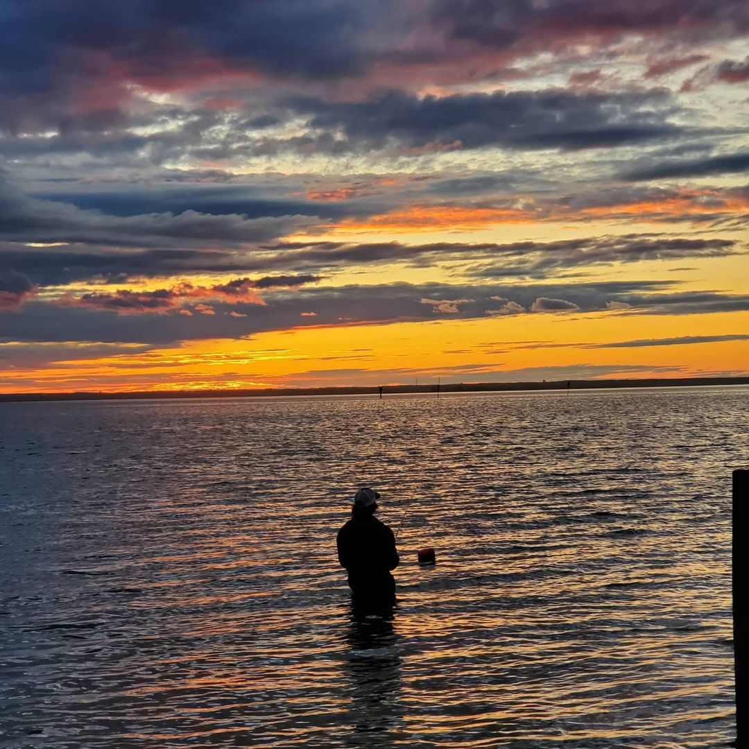 LBI No filters for my boy fishing tonite.  Amazing sunset after another rainy day.  …