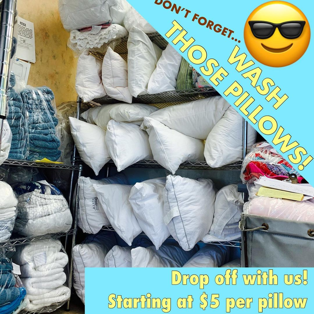 LBI Pillows… blankets… towels… we do it all! Drop off with us! We are open 8am…