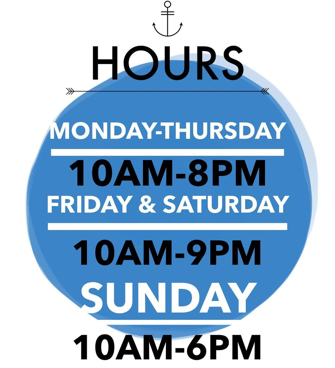 LBI  Please take notice to our hours starting Thursday May 14, 2020 • *Remember to m…
