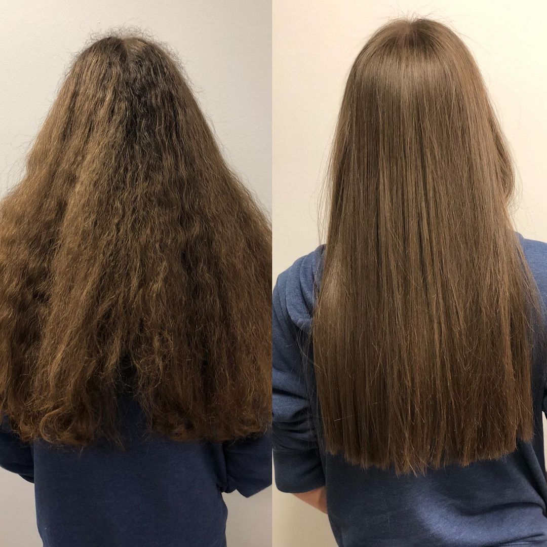 LBI Before and after Brazilian Blowout  hairbydonna • •                     …