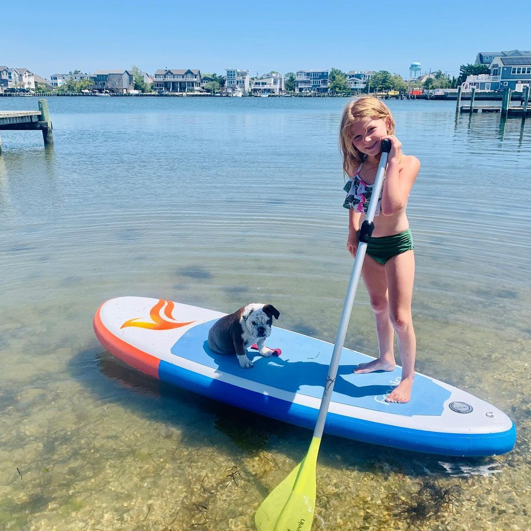 LBI Darla's first paddle board ride          …