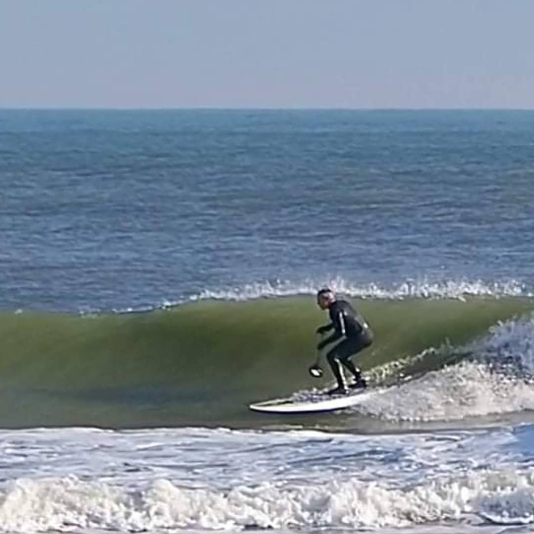 LBI December bluebird day in the surf and a visit from Bob.            …