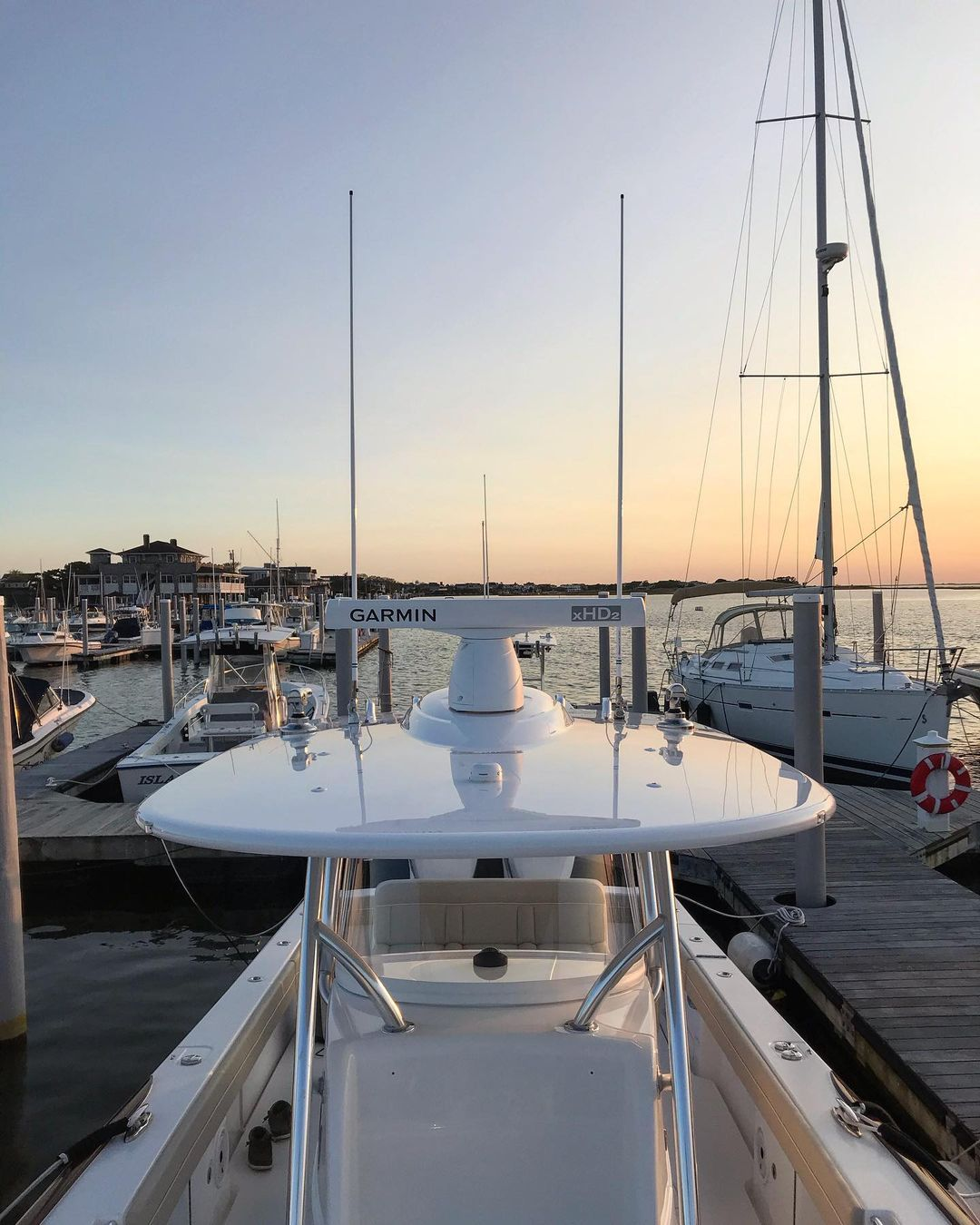 """LBI Mirror finish on the ttop of this 33'  """"Shore Thing"""" from earlier in the fall • …"""