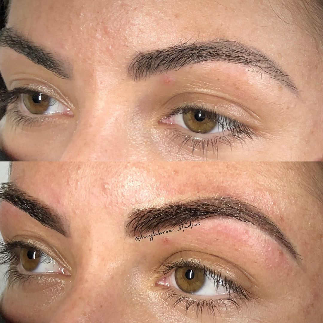LBI Obsessed with this warm  coverup over old microblading (not my work) for these b…