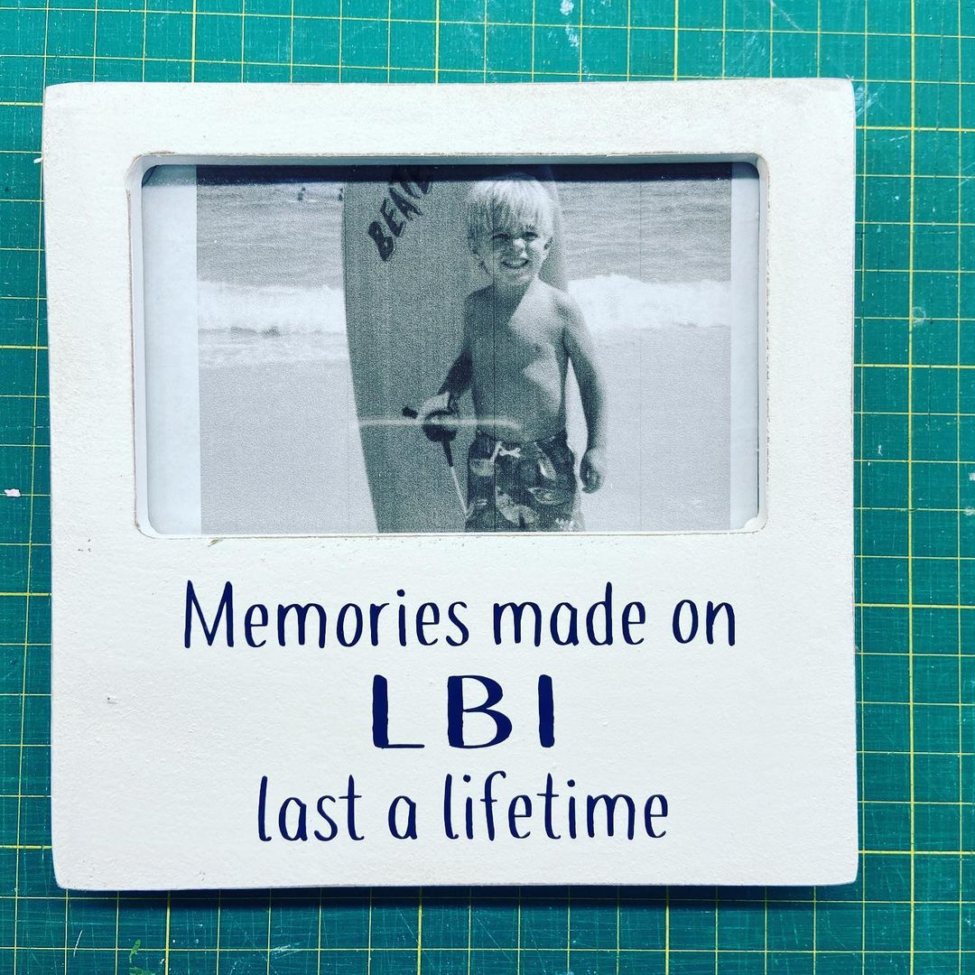 Read more about the article LBI Perfect frame to capture and display your LBI memories. Wood easel style frame m…