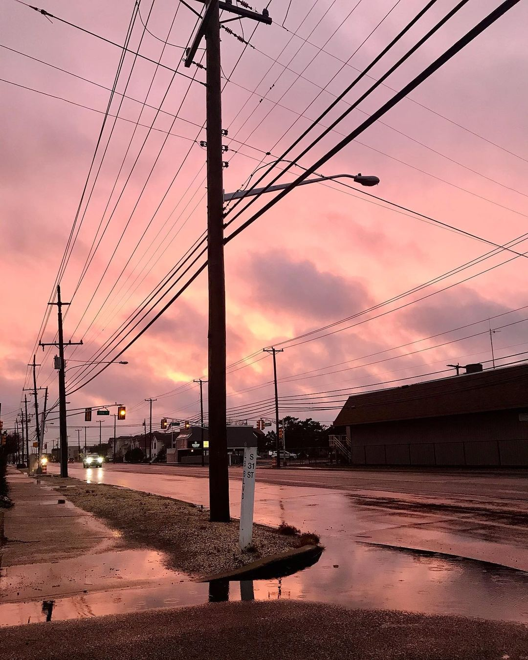 Read more about the article LBI The sky as I was leaving work today. No filter.            …